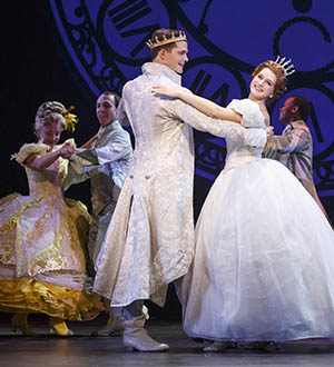 Hayden Stanes and Tatyana Lubov in Rodgers and Hammerstein's Cinderella. © Carol Rosegg