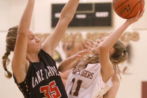 Aubrey Pickard, Cassie Louthan, Lady Tiger basketball
