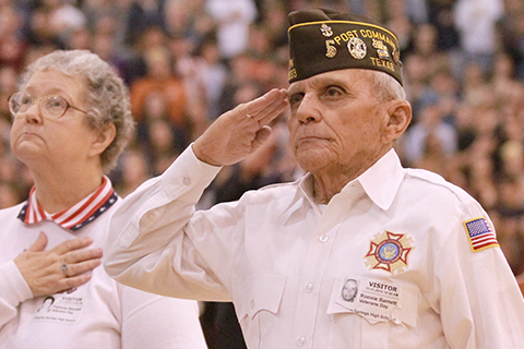 Dripping Springs High Veterans Day assembly